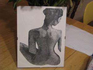 a pointillism picture I did in college