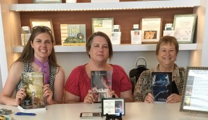 Cheryl Mahoney, me, and K.D. Blakely at Face in a Book